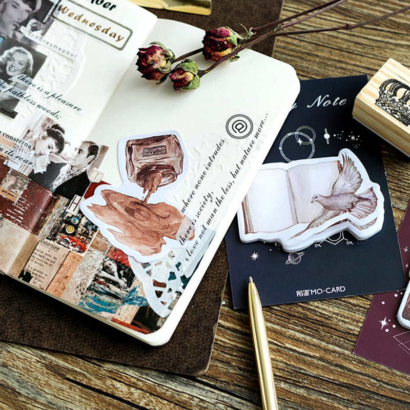 36 pcs/Lot Vintage decoration memo note Post diary planner sticker Book Marker it pad Stationery Office School supplies A6347