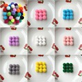 20g (60pcs) 20mm Multi Color Pompom Fur Craft DIY Soft Pom Poms Wedding Decoration/Sewing On Clothes Accessories
