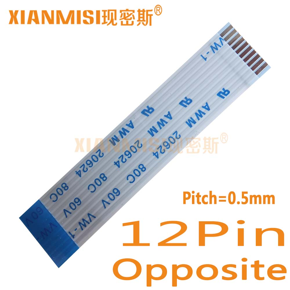 15cm 6Pin 0.5mm Pitch FFC Flexible Flat Cable Opposite Side AWM 20624 80C 60V