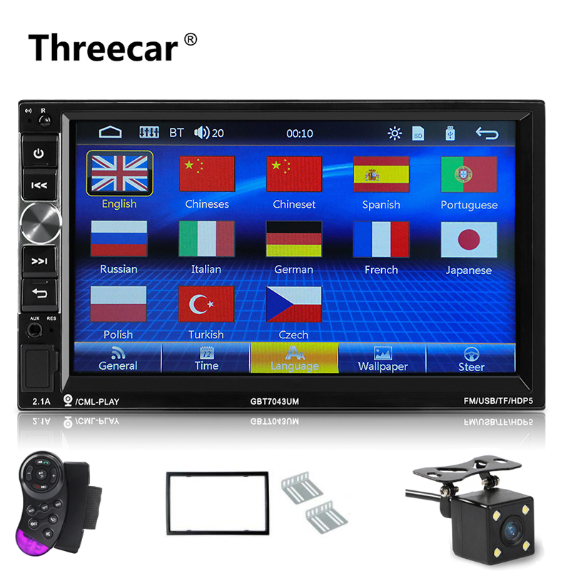 Newest 2 Din Car radio 7 inch Android Phone Mirror Car Radio Bluetooth hands free FM/TF/USB/Auxin rear view camera MP5 player 7 inch touch screen bluetooth mp5 car rear view mirror monitor tf usb 800 480 lcd fpv bt mirror pal ntsc for car or truck bus