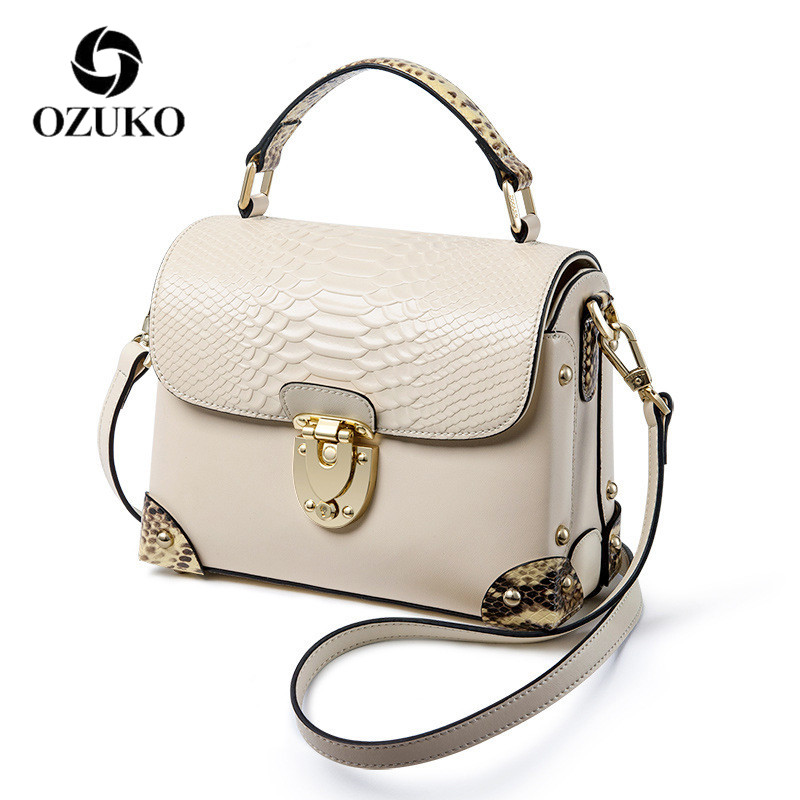 OZUKO genuine leather crossbody bags for women 2018 luxury handbags designer shoulder bag classic bolsa feminina цены онлайн