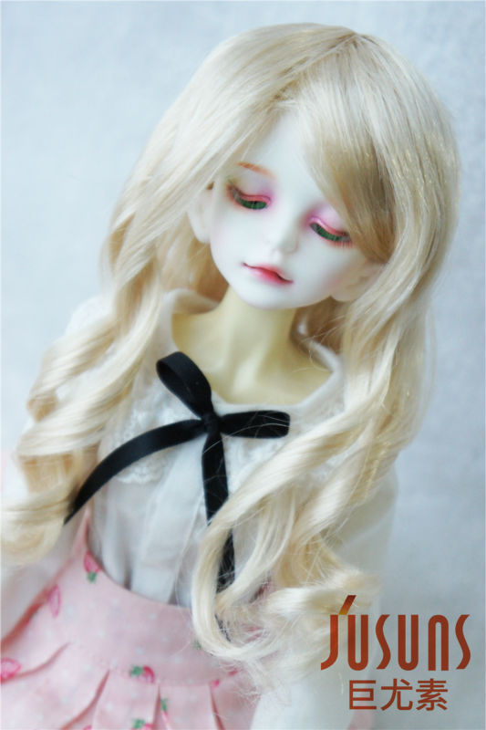 1/4 synthetic mohair doll wigs  Long Lady wave bjd wig ,7-8 inch MSD doll accessories 1 3 1 4 1 6 1 8 1 12 bjd wigs fashion light gray fur wig bjd sd short wig for diy dollfie
