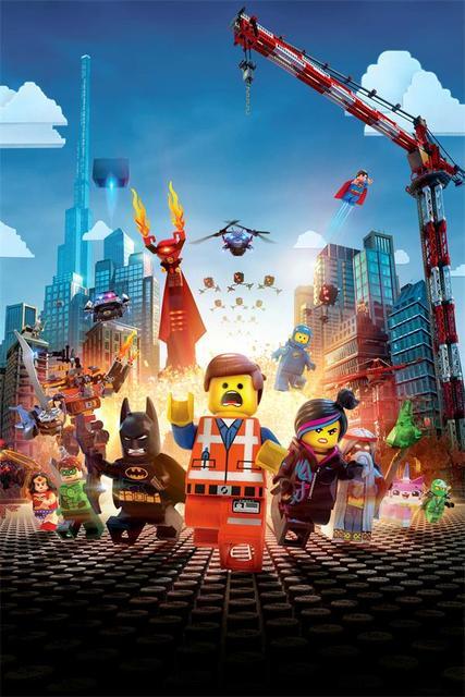 Personnalisé Mur De Toile Décor Dc Comics Affiche Lego Film Emmet