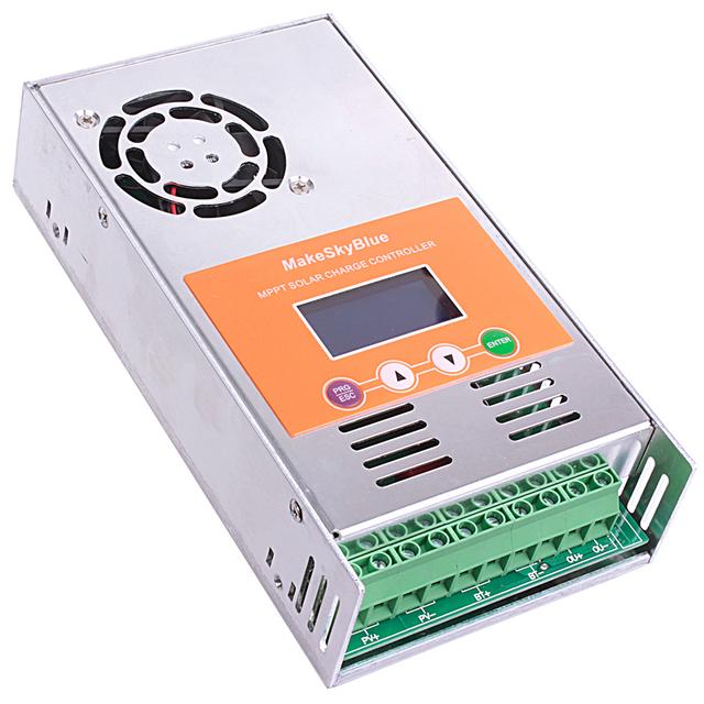 MakeSkyBlue MPPT 30A 40A 50A 60A Solar Controller for 12V 24V 36V 48V Sealed Acid Lithium AGM Solar Battery With LCD Display