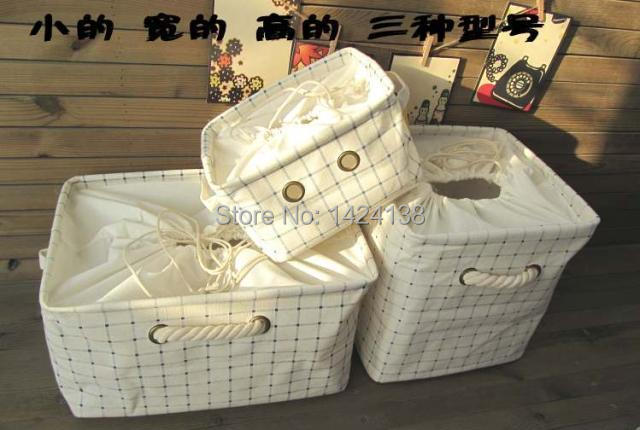 popular and hot sale canvas fabric clothing storage basket with clock cloth inside,cotton handle,sotrage boxes ,laundry box