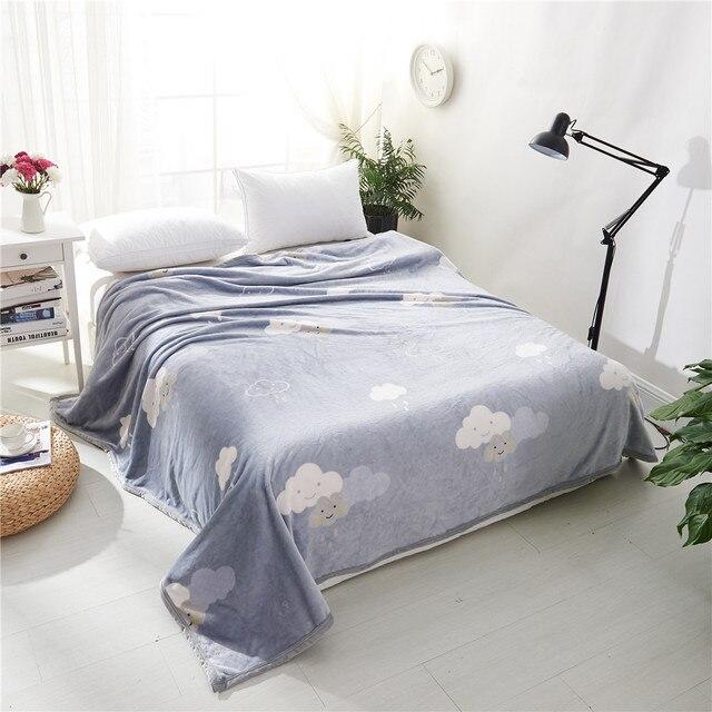Alta calidad suave manta gris cielo patrón manta respirable cómodo ...