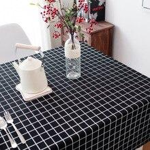 Хлопчатобумажная льняная ткань для скатерти художественная квадратная скатерть стол журнальный столик скатерть на стол ткань