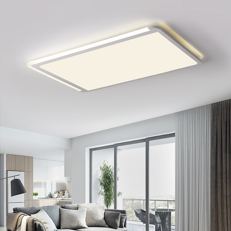 Living room lamp rectangular led ceiling lamp Super Boya acrylic lamp bedroom lamp simple modern marriage room study lighting modern led ceiling lamp aisle simple living room porch balcony study room long lamp