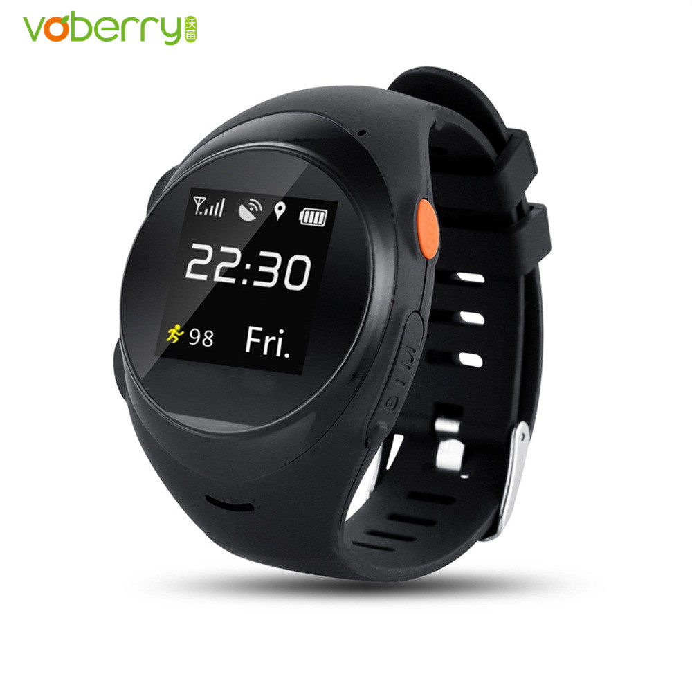 VOBERRY S888A GPS SIM Card Smart Watch SOS Emergency Call Smartwatch LBS Wifi Watches For Kids Elderly Safety Children Security yobangsecurity emergency call system gsm sos button for elderly