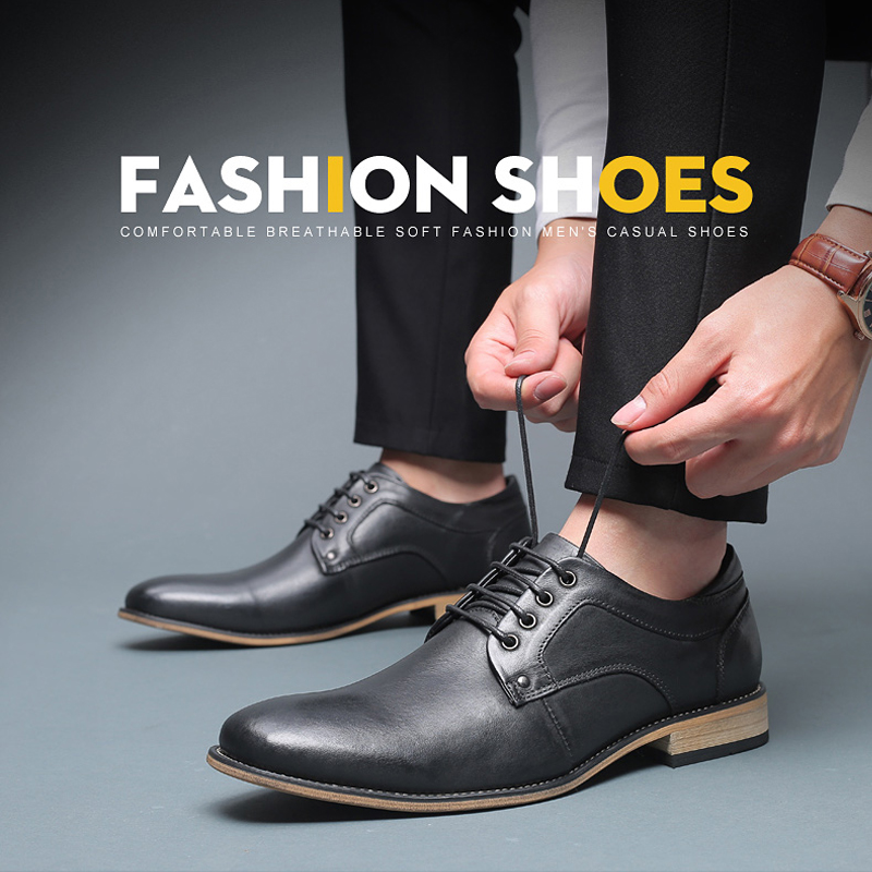 lace up Genuine leather dress shoes