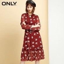 ONLY Women's Ruffled Elasticized Waist DressLace-up design Ruffled |118307599 цены