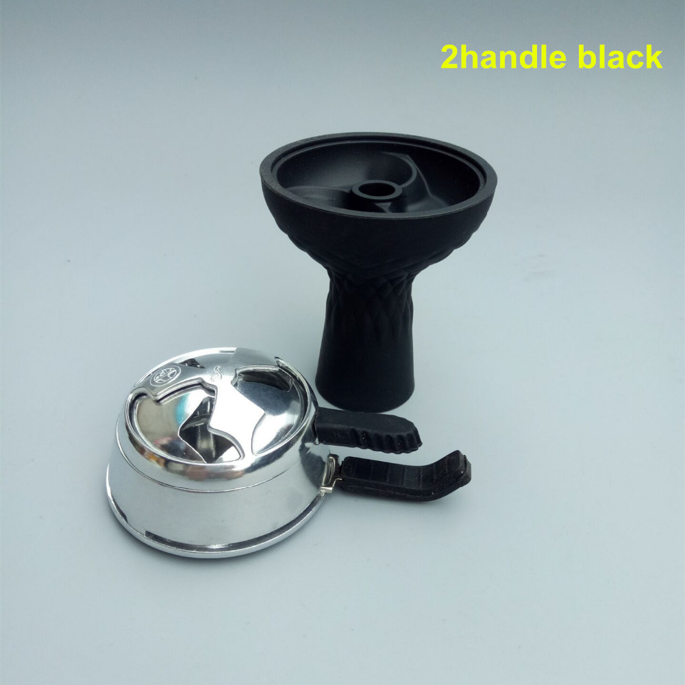 1pc 3-disc Silicone Shisha Hookah Bowl And 1pc Charcoal Holder As 1 lot For Glass Shisha Hookah