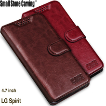 Luxury Retro Flip Case For LG Spirit 4G LTE H440N Leather Soft Silicon Wallet Cover For LG Spirit H420 H422 c70 Case phone Coque