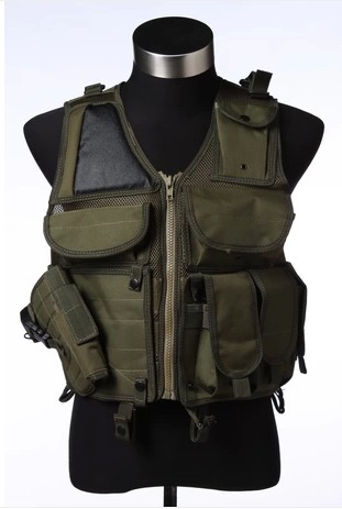 Fishing vest multi - pocket special vest anti - stabbing vest men outdoor field CS combat uniforms tactical vest airsoft adults cs field game skeleton warrior skull paintball mask