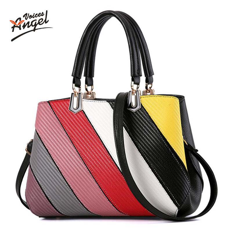 2017 New Women's pu Leather Handbag Rainbow Tote Trendy Shoulder Bags Messenger Bag Cross body bag women mochila bolsa feminina 2018 women messenger bags vintage cross body shoulder purse women bag bolsa feminina handbag bags custom picture bags purse tote