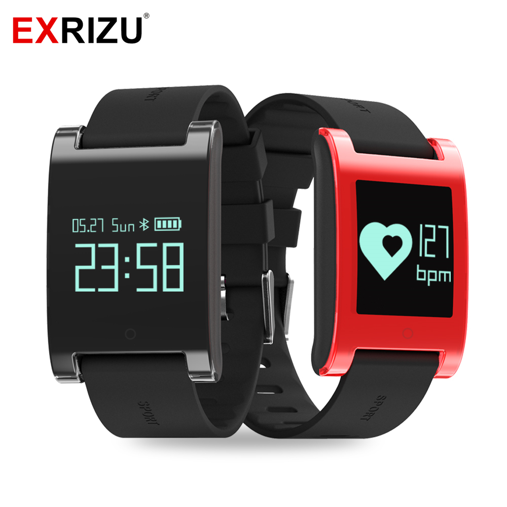 EXRIZU EX68 Sport Waterproof Smart Band Wristband Fitness Tracker Blood Pressure Heart Rate Monitor Calls Message