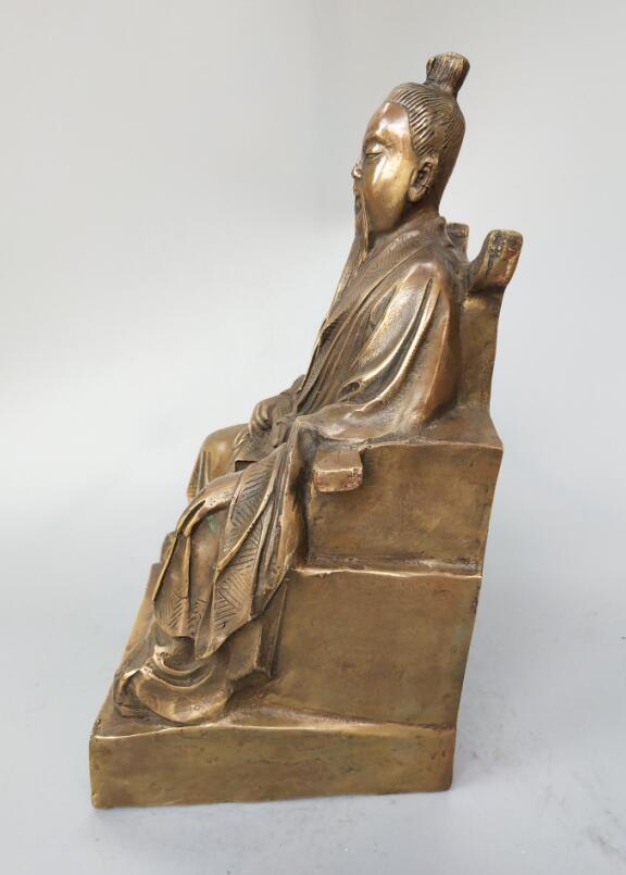 Original Brass Zhang San Feng Statue 3