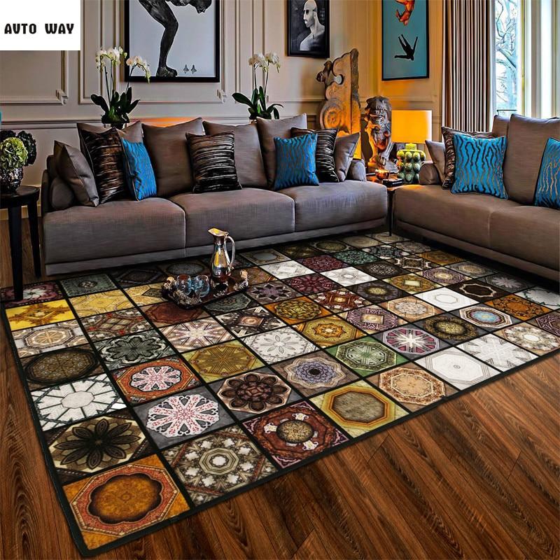 우수한 품질 레트로 이국적인 카펫 터키 패션 마루 거실 카펫 침실 연구 매트 커피 테이블 이슬람 깔개