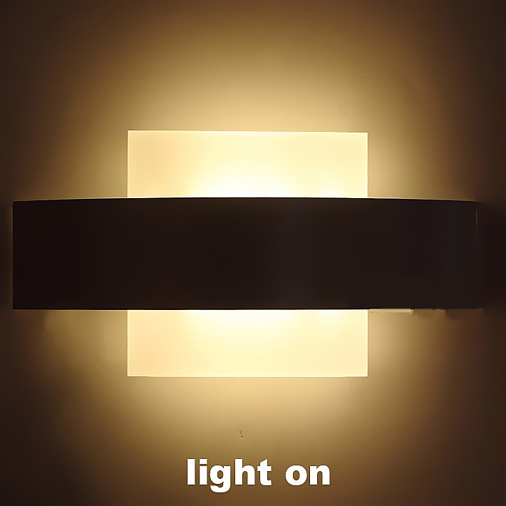 ФОТО 6W LED Wall Light Metal Aluminum 240*120mm Wall Lamp Led Bedroom Lighting Indoor Stair Light Wall Sconce WWL050