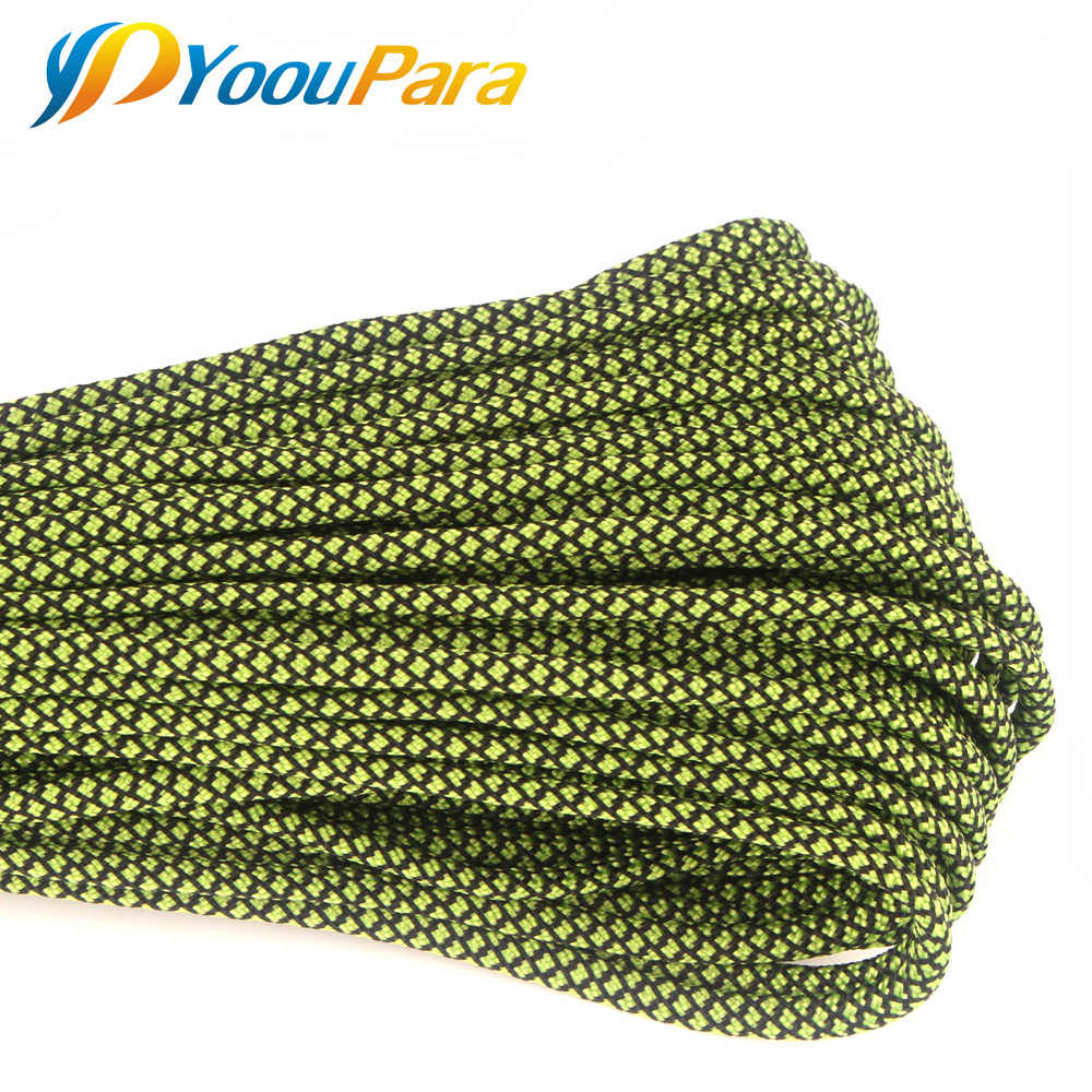Nowe kolory Paracord 550 100FT liny Paracord typu III 7 stojak przewód odkryty Camping Survival liny hurtownie