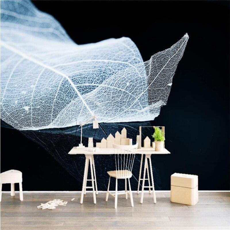 Custom Photo Wallpaper Free Desktop Wallpaper Wall Minimalist Kids Room Decor Wallpaper Texture Leaf Vein Home Decor Bedroom
