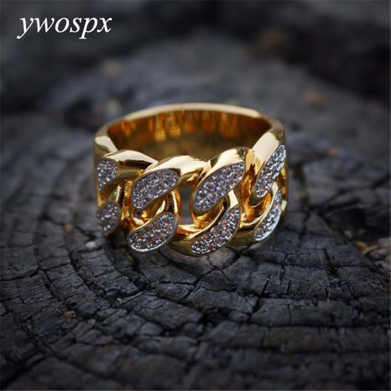 Anillos de Color oro Cruz de circón de lujo para hombre/mujer joyería boda anillo de compromiso Anel anillos de bisutería regalos Y30