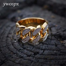 Luxury Zircon Cross Gold Color Rings for Men/Women Jewelry Wedding Anel Engagement Statement Ring Anillos Bijoux Gifts Y30 classic anillos red crystal zircon black color rings for women jewelry wedding engagement ring statement gifts y20