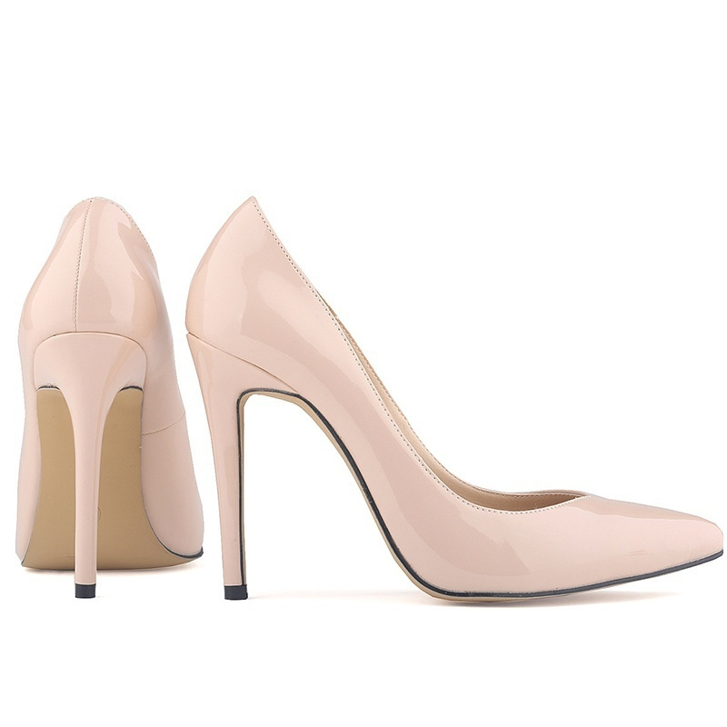 LOSLANDIFEN Shoes Businesses Party High-Heels Pointed Women Waterproof PU for Sexy