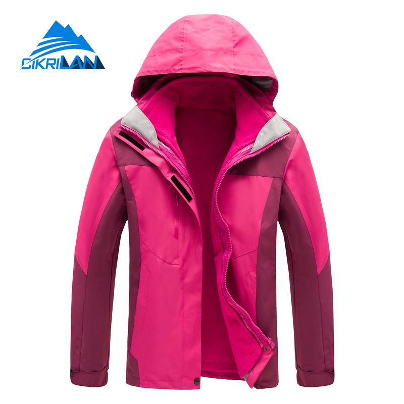 Hot Sale Waterproof Leisure Outdoor Winter Jacket Women Camping Hiking Ski Coat Climbing Fishing Chaquetas Mujer Thermal Casaco hot sale windstopper water resistant coat 2in1 hiking winter jacket women outdoor veste breathable camping chaquetas mujer