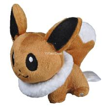 Free shipping 5 Eevee Plush Doll Around 12cm
