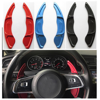 2pcs Aluminum Alloy Add On Steering Wheel DSG Paddle Shifters Extension For Volkswagen Golf MK7 Volkswagen Scirocco 2015 2016