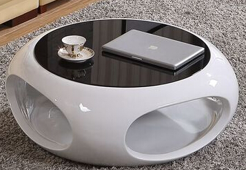 The new hollow out tea table.. Creative piano lacquer. Circular toughened glass sitting room furniture toughened glass small tea table phone sofa the round table