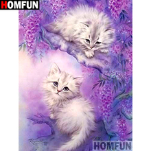 HOMFUN Full Square/Round Drill 5D DIY Diamond Painting Animal cat landscape Embroidery Cross Stitch 3D Home Decor Gift A13184 ремень vip collection vip collection mp002xm0n91s
