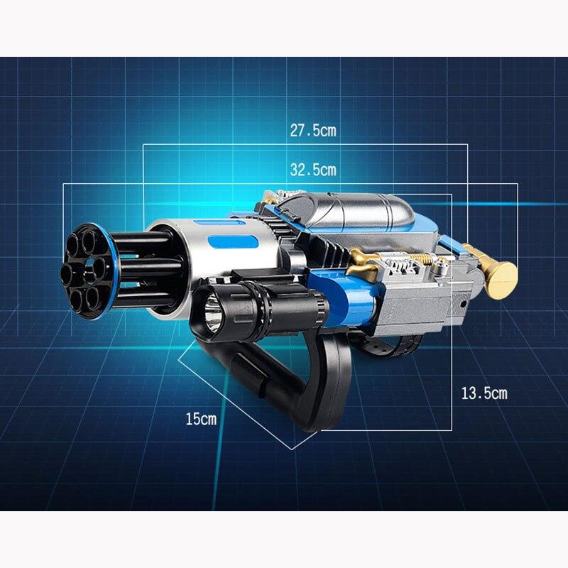 Électrique télescopique éclate Gatling canon à eau jouet pistolets Air balle molle arme pour enfants garçon extérieur CS jeu Paintball cadeaux - 5