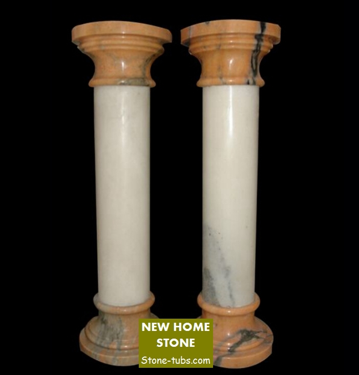 Interior decorative columns white marble indoor columns for Where to buy columns for house