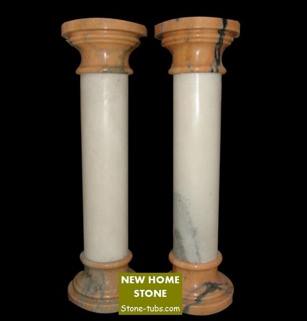 interior decorative columns white marble indoor columns highly