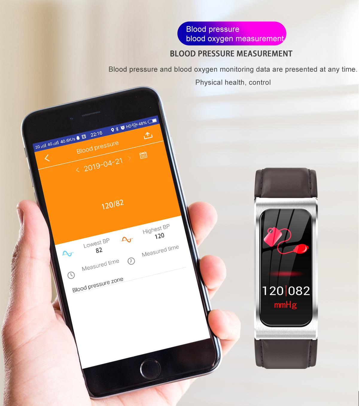 """Smartwatch 1,14"""" IP68 impermeable Android IOS 5"""