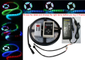 DC12V 5M Digital RGB 133 Dream color 6803 IC waterproof LED Strip 5050 + RF remote controller + 3A power supply LED RGB kit