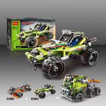 3411-18 Technical 2 in 1 warrior off-roader racer Car Model 3D building set Warrior sports car Baby kids 3363 Toys