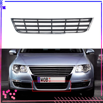 Chrome Front Bumper Lower Grill Grille Cover For VW Passat B6 3C 3C0853671C 2006-2011 grille