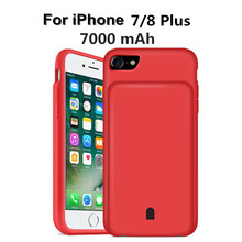 ZKFYS 7000mAh Large Capacity Portable Power Bank Case  For iPhone 7 8 Plus Ultra Thin Fast Charger Battery Cover