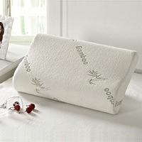 Slow Rebound Memory Foam Pillow Bamboo Fiber Cover Sleep Cervical Health Care 09WG
