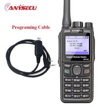 Anysecu DMR Walkie Talkie DM 960 TDMA Ham Radio DM960 VHF UHF Con Il GPS Dual Slot Volte Compatibile con MOTOTRBO con cavo USB