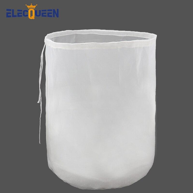 38x45cm Brau Filter Tasche Reusable Nylon Mesh Lebensmittel Sieb Korn Brauen Tasche für Bier Wein Machen Zu Hause brauen Eimer Typ Filter