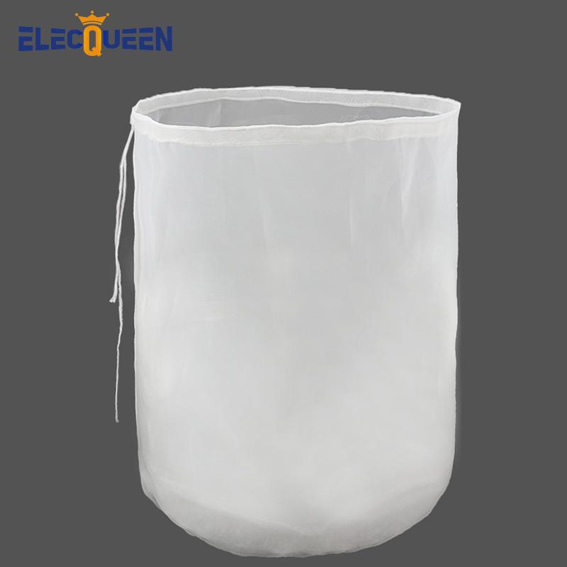 38x45cm Brewing Filter Bag Reusable Nylon Mesh Food Strainer Grain Brew Bag For Beer Wine Making Home Brewing Bucket Type Filter