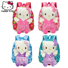 Angel Hello Kitty Children's Plush Backpack Cartoon Cute Baby Soft Pouch Christmas Kawaii KT Bag Toys Animation Kindergarten hello kitty plush toys for children pink veil kt doll baby gifts