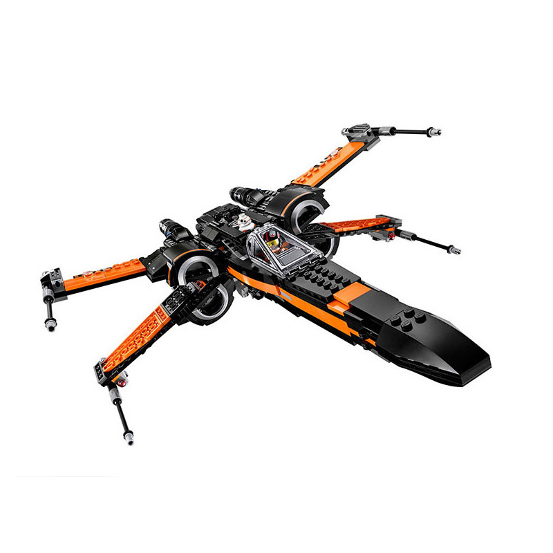 StZhou LePin Poe's X-wing Fighter Star Building Blocks Fighter Assembled Fighter Compatible with Toys Star X Wing Toys hot sale building blocks assembled star first wars order poe s x toys wing fighter compatible lepins educational toys diy gift