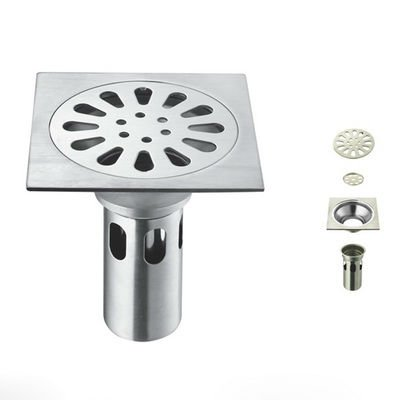 Free Shipping Bathroom Kitchen Square Floor Drain Strainer Cover For  Kitchen Or Bathroom Wholesale H01040019