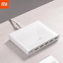 מקורי Xiaomi USB C 60W מטען פלט סוג C 6 USB יציאות QC 3.0 מהיר תשלום 18W x2 + 24W(5V = 2.4A מקס) עבור טלפונים חכמים