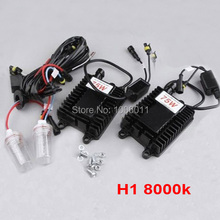 Single Universal Car Bulbs XENON Globe Conversion Headlight Replacement Lamps ballast Wire XENON KIT Fit for 75W H1 8000K